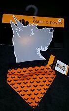 New Halloween Custom Skull & Bones For Dogs Polka Bat Bandana M-L