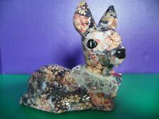 Decopage Deer Figurine Floral Design