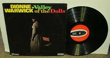 Dionne Warwick Valley of The Dolls, orig Scepter vinyl Lp, 1968, Vg, Bacharach