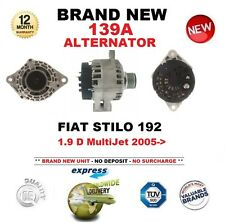 FOR FIAT STILO 192 1.9 D MultiJet 2005-> NEW 139A ALTERNATOR with CLUTCH PULLEY