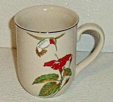 "Otagiri Mug Cup Japan Hummingbird Red Flower Gibson 4"" Vintage"