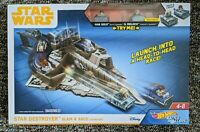 NEW* Star Wars Hot Wheels Battle Rollers, Star Destroyer Slam and Race Launcher