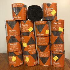 New Old Stock Lot 15 Bucilla Pre Cut Latch Hook Yarn Charcoal Grey