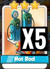 Hot Rod x5 :- Coin Master Card(Fastest Delivery)