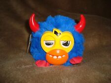 "Furby Furbling Party Rockers Blue with red Horns Scoffby 3.5"" tall 2012 Hasbro"