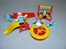 Raggedy Ann & Raggedy Andy PVC Figures 1988 Playground Swing set seesaw panda