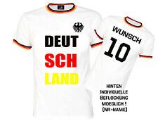 FUSSBALLTRIKOT FANSHIRT T-SHIRT DEUTSCHLAND WM EM WELTMEISTER GERMANY MIT NAME