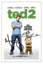 TED 2 SETH MACFARLANE & MARK WAHLBERG SIGNED PHOTO PRINT AUTOGRAPH POSTER