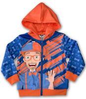 Blippi Zippi Official Zip-up Hooded Sweatshirt - Size 2T