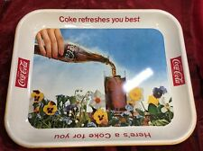 Vintage 1961 Coca Cola Tray COKE REFRESHES YOU BEST SODA POP