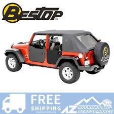 Bestop Rear Soft Half Doors Black Diamond For 2007-2018 Jeep Wrangler JK 4 Door