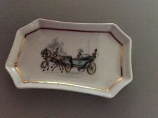 Limoges pin tray gout de villa edite par vintage China French horse & carriage d