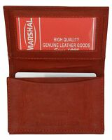 Burgundy Genuine Leather Men's Bifold Wallet 20 Card Holder