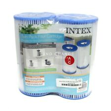 Intex Twin Pack Type A or C Replacement Swimming Pool Filter Cartridge 29002E