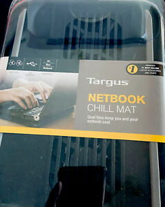 """(Black) Targus Chill Mat for Laptops or Netbooks up to 12"""" - New Dual Fans Air"""