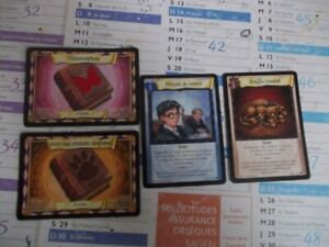 lot de 4 cartes Harry Potter trading card game