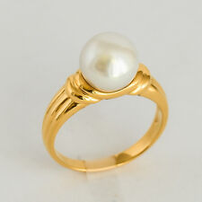 PEARL GOLD RING 8.9mm CULTURED SOUTH SEA PEARL GENUINE 9K 375 GOLD SIZE M1/2 NEW