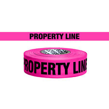 Presco Printed Roll Flagging Tape: 1-1/2 in. x 50 yds. Pink/Black PROPERTY LINE