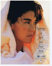 PUBLICITE ADVERTISING 104 1991 SANTENS serviettes et peignoirs de bain