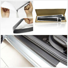 4x Carbon Fiber Style Car Door Plate Sill Scuff Anti Scratch Sticker Car-Styling