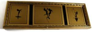 C19 K. W. Diefenbach Art Nouveau Framed Silhouette Print Divine Youth NOON