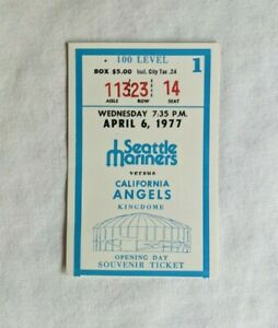 April 6 1977 Seattle MARINERS California Angels OPENING DAY Ticket Stub 1st Game