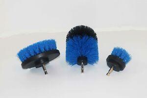 3PCS drill brush HEAVY DUTY(BLUE) NEW from US Based seller