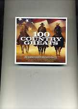 100 COUNTRY GREATS - JIM REEVES PATSY CLINE JOHNNY CASH - 4 CDS - NEW!!