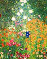 The Flower Garden by Gustav Klimt - Bloom Colors Blossom 8x10 Print Picture 1633