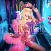 LOL Ahri The Nine-Tailed Fox Popstar Cosplay Costume Fancy Dress Cosonsen Made