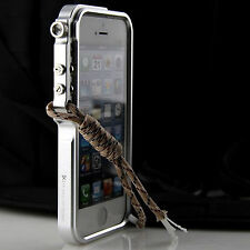 Cool Metal Case For iPhone 5 5s Se Premium Aluminum Bumper Trigger Cover +Strap