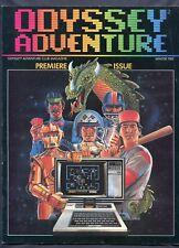 1982 Odyssey Adventure Video Game Magazine Premiere Issue Winter Vol. #1 RARE