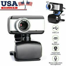 HD Camera Webcam Clip With Microphone USB 2.0 For PC Laptop Desktop Video Cam QW