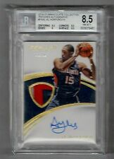 2014-15 Panini Immaculate Al Horford 3 Clr Patch/ Auto #D 54/75 BGS 8.5 NM-MT+