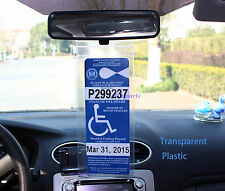 4x Handicap Permit Placard Protector Hanger Parking Car Holder Cover Hang Sleeve
