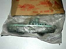 Vintage 1950's Plastic Renwal Type Freighter Cargo Ship Boat Toy Hong Kong Mip