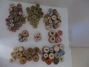 Lot of 80+ Vintage Empty Thread Spools