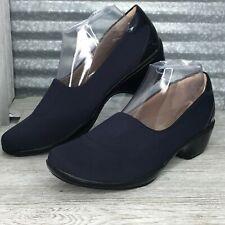 Soft Spots Women Navy Midnight Soft Footbed Medium Heel Slip On  Comfort Size 9