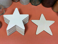 WOODEN STARS Shapes 10.2cm (x10) laser cut wood cutouts crafts blank shape