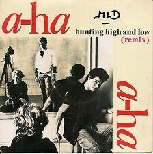 "45 TOURS / 7"" SINGLE--A-HA / AHA--HUNTING HIGH AND LOW / THE BLUE SKY--1986"