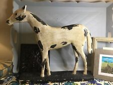 Horse Farmhouse Distressed Black & White Wooden Rustic 🐎🐴 French Country Large