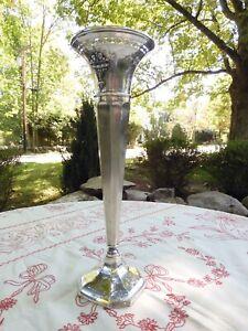 Antique / Vintage Gorham Sterling Silver 14-Inch Adams Style Trumpet Vase