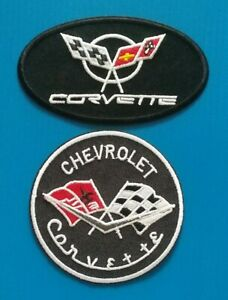 2 NEW CHEVY CORVETTE Easy Sew/Iron On WHOLESALE PATCHES W/ FREE SHIP