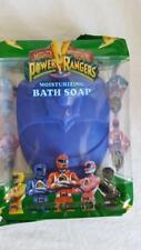 "Nip 4 Oz Blue Mighty Morphin Power Rangers Moisturizing Bath Soap, Sealed, 4X3"""