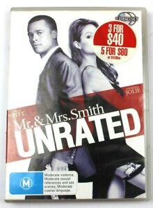 MR. & MRS. SMITH UNRATED (BRAD PITT / ANGELINA JOLIE) DVD MOVIE