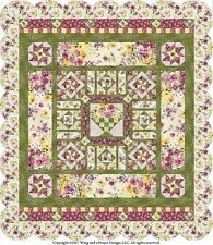 New Pieced Quilt Pattern BOTANICAL MUSE 3 Sizes
