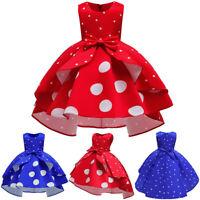 Kids Baby Girls Sleeveless Dress Princess Pageant Gown Xmas Party Wedding Dress