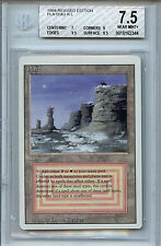 MTG Revised Dual Land Plateau BGS 7.5 NM+ Card Magic The Gathering miscut 2344