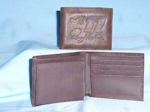 Denny Hamlin #11 NASCAR Leather BiFold Wallet NEW dark brown 4