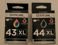 Lexmark 43XL & 44XL Black & Colour Genuine Ink Cartridges Lexmark 43XL 44XL